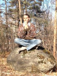 Giten, foto, meditation, sten