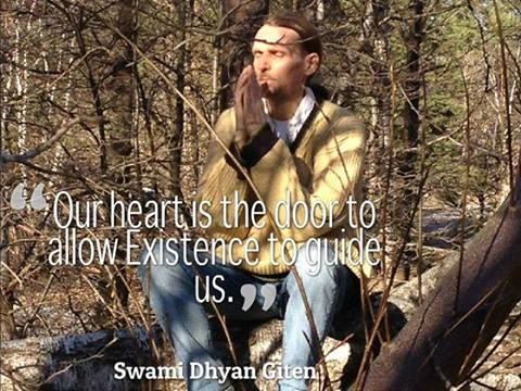 Giten Quote Picture + Our heart + Existence